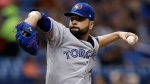 Toronto Blue Jays' Jaime Garcia pitches to the Tampa Bay Rays during the second inning of a baseball game Tuesday, June 12, 2018, in St. Petersburg, Fla. (AP Photo/Chris O'Meara)