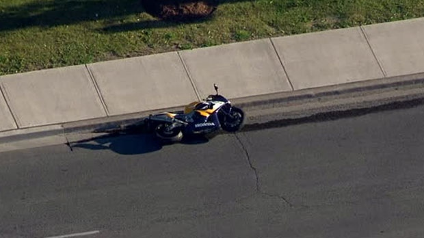 A male motorcyclist is dead following a hit-and-run in Scarborough Junction.