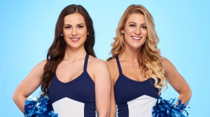 "Toronto Argonauts cheerleaders Leanne Larsen, 25, and Marielle ""Mar"" Lyon, 26 are seen in this undated handout photo. On ""The Amazing Race Canada: Heroes Edition,"" premiering July 3 on CTV, there are two retired air force pilots and Toronto Argonauts cheerleaders. THE CANADIAN PRESS/HO, Bell Media *MANDATORY CREDIT*"