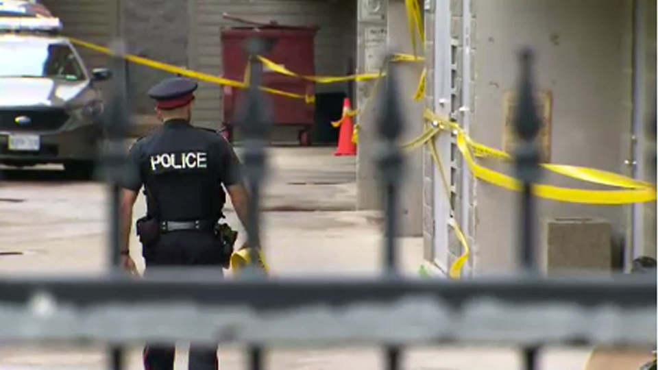 Toronto police are on scene after a 28-year-old woman was found dead inside her apartment in the West Queen West area.