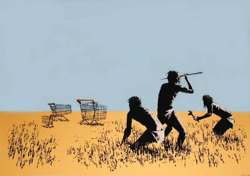"""Trolley Hunt"" print stolen from ""The Art of Banksy"" exhibition is seen. (Toronto police handout)"