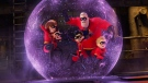 "This image released by Disney Pixar shows a scene from ""Incredibles 2."" Cineplex theatres showing ""Incredibles 2"" have posted health-related warnings to moviegoers about Disney's animated feature, which opened on the weekend. THE CANADIAN PRESS/AP, Disney/Pixar"