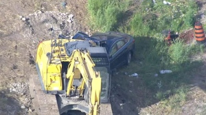 One female has been rushed to hospital in critical condition after a crash on Highway 401.