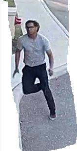 A suspect wanted in connection with a sexual assault in Brampton is seen in this surveillance camera image. (Peel Regional Police)