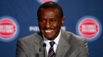 Detroit Pistons new head coach Dwane Casey is introduced during an NBA basketball news conference in Detroit, Wednesday, June 20, 2018. (AP Photo/Paul Sancya)