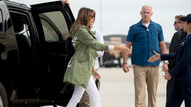 Melania Trump's Jacket Choice Criticized