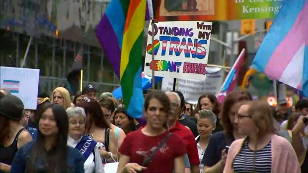 Massive crowds gather as Pride parade takes over downtown Toronto