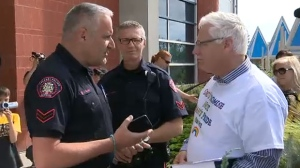 Anti-gay activist Bill Whatcott turned himself in to police in Calgary in response to a Canada-wide warrant for his arrest. (CTV Calgary)