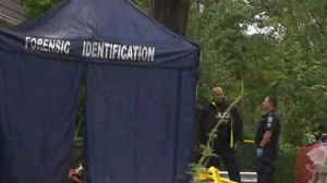 Police are investigating a double homicide on Lightwood Drive in Etobicoke.