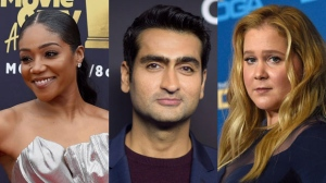 Tiffany Haddish, Kumail Nanjiani and Amy Schumer (from left to right) are seen in this composite image. (The Associated Press)