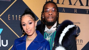 In this Feb. 3, 2018, file photo, Cardi B, left, and Offset arrive at the Maxim Super Bowl Party at the Maxim Dome in Minneapolis. A marriage certificate shows hip-hop stars Cardi B and the Migos' Offset were married months ago in Atlanta. Cardi B confirmed the marriage in a tweet Monday. (Photo by Omar Vega/Invision/AP, File)