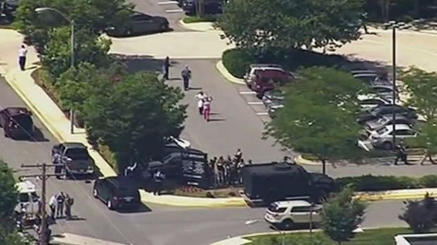 Five dead in shooting at U.S.  newspaper office, suspect in custody