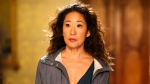 "This image released by BBC America shows Sandra Oh in a scene from ""Killing Eve."" (BBC America via AP)"