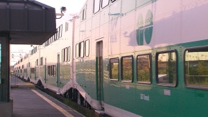 A Go Transit train can be seen in this file image.