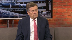 Toronto Mayor John Tory speaks with CP24 on Friday, July 13, 2018.
