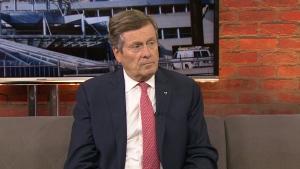 Toronto Mayor John Tory speaks with CP24 on Friday, July 13, 2018.