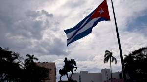 In this Saturday, May 19, 2018 photo, a Cuban flag is seen in Havana, Cuba. (AP Photo / Ramon Espinosa)