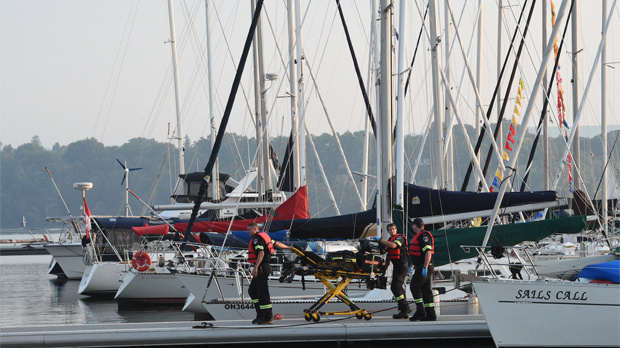 Police are investigating a possible drowning in Hamilton this morning. (Andrew Collins/ CP24)