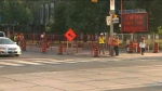 Lane restrictions begin today on Jarvis Street in the downtown core for road reconstruction and watermain work.