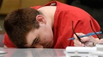 School shooting suspect Nikolas Cruz sits in a Broward County courtroom for a hearing in Fort Lauderdale, Fla., Monday, July 16, 2018. The hearing is to determine how much of Cruz's statement to investigators should be be made public. Cruz faces the death penalty if convicted of killing 17 people in the Valentine's Day attack at Marjory Stoneman Douglas High School. (Taimy Alvarez/South Florida Sun-Sentinel via AP, Pool)