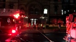 Emergency crews are seen responding to a one-alarm fire at Old City Hall. (CP24 / Joshua Freeman)