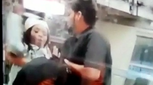 An altercation at a Tim Hortons in Brampton is seen in this screengrab from a video.