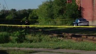 Police say a missing five-year-old boy was found near some railway tracks not far from his home in Brampton.