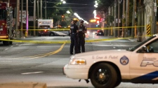 Police confirm homicide detectives are investigating an incident in South Riverdale. (John Hanley/ CP24)