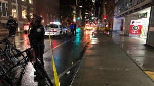 One man was taken to hospital following a stabbing in the city's Entertainment District. (Peter Muscat/ CP24)