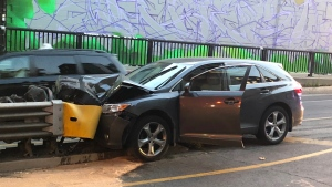 One man was seriously injured after a crash in Junction Triangle on Saturday morning. (Peter Muscat/ CP24)