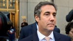 FILE - In this April 26, 2018 file photo, Michael Cohen leaves federal court in New York. President Donald Trump's former personal lawyer secretly recorded Trump discussing payments to a former Playboy model who said she had an affair with him, The New York Times reported Friday, July 20. The president's current personal lawyer confirmed the conversation and said it showed Trump did nothing wrong, according to the Times. (AP Photo/Seth Wenig, File)