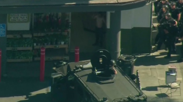 Gunman opens fire at officers outside California Trader Joe's