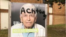 UJA sign vandalized