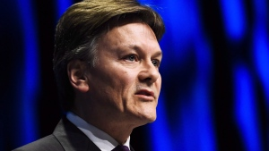 Barrick Gold president Kelvin Dushnisky speaks during the company's annual general meeting in Toronto on Tuesday, April 25, 2017. Barrick Gold Corp.'s second-highest ranking executive will be leaving the company at the end of August to become chief executive of AngloGold Ashanti Ltd. in South Africa. THE CANADIAN PRESS/Nathan Denette
