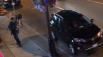 An unidentified man raises a handgun in a still frame made from a video posted to Instagram by the account @ArielAnise on Sunday, July 22, 2018. Two people were killed and 12 others were injured when a man armed with a handgun fired into restaurants and patios in a popular Toronto neighbourhood on a warm Sunday night, authorities said Monday.THE CANADIAN PRESS/HO-Instagram, @ArielAnise