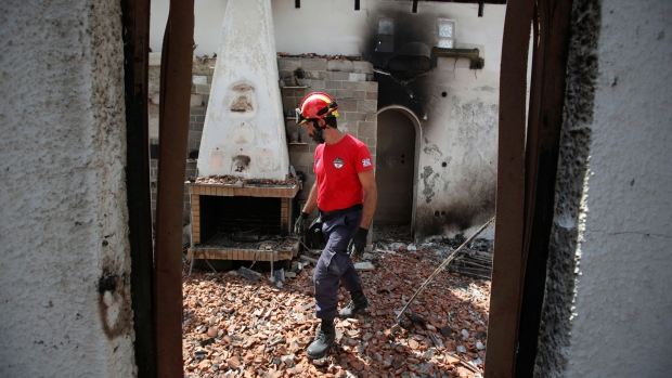 Irish groom missing and bride hospitalised in Greek wildfire horror