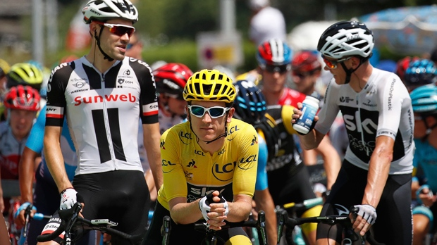 Geraint Thomas retains yellow jersey following dramatic day at Tour de France