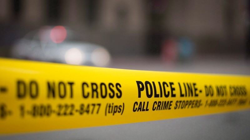 Police tape is shown in this file photo. (File/THE CANADIAN PRESS/Graeme Roy)