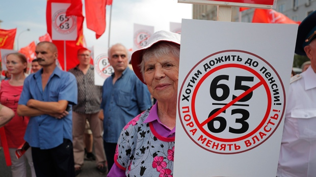 2,500 people rally in Moscow against proposed retirement age hike
