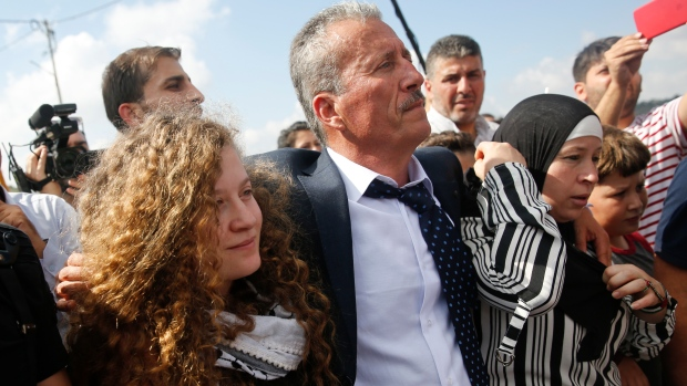 Israel releases Palestinian teenager who struck soldier from prison