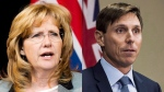 Linda Jeffrey and Patrick Brown are seen in this composite image. (The Canadian Press)
