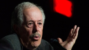 "Filmmaker Denys Arcand speaks during a news conference to promote his latest movie ""Le règne de la beauté"" in Montreal, Tuesday, May 6, 2014. Contemporary anxieties and Indigenous issues are among the themes in the Canadian lineup for this year's Toronto International Film Festival, which includes works by directors Arcand and Jennifer Baichwal. THE CANADIAN PRESS/Graham Hughes"