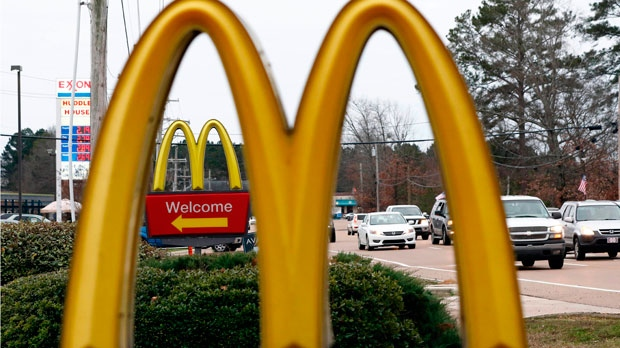 This Feb. 15, 2018, file photo shows a McDonald's Restaurant in Brandon, Miss. A Utah man is suing McDonald's alleging that an employee spiked his Diet Coke in Aug. 2016 with a heroin substitute. (AP Photo/Rogelio V. Solis, File)