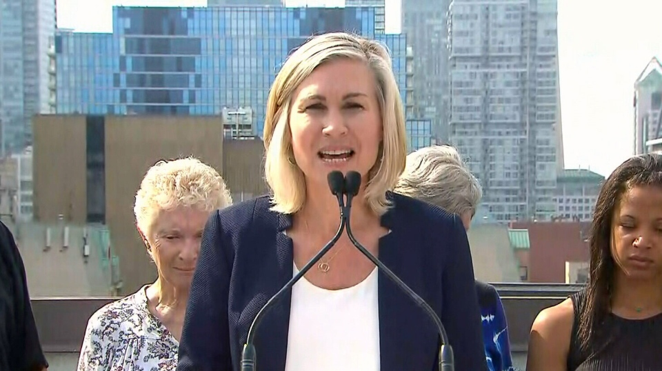 Jennifer Keesmaat makes her first mayoral election promise in Toronto on Aug. 7, 2018.