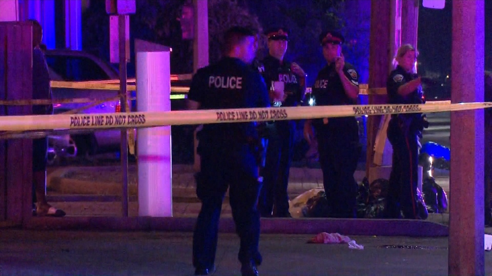 One male is dead and three others are injured following a shooting in Hamilton.