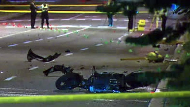 A male motorcyclist is dead after a hit-and-run collision in Scarborough.