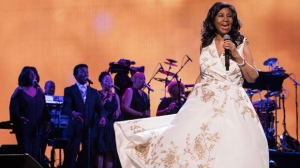 "In this April 19, 2017 file photo, Aretha Franklin performs at the world premiere of ""Clive Davis: The Soundtrack of Our Lives"" at Radio City Music Hall, during the 2017 Tribeca Film Festival, in New York. (Photo by Charles Sykes/Invision/AP, File)"