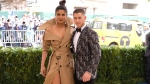 Priyanka Chopra, left, and Nick Jonas attend The Metropolitan Museum of Art's Costume Institute benefit gala celebrating the opening of the Rei Kawakubo/Comme des Garvßons: Art of the In-Between exhibition on Monday, May 1, 2017, in New York. (Photo by Charles Sykes/Invision/AP)