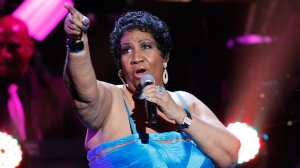 This Jan. 14, 2012 file photo, shows singer Aretha Franklin performing during the BET Honors at the Warner Theatre in Washington. Franklin died Thursday, Aug. 16, 2018 at her home in Detroit. She was 76. (AP Photo/Jose Luis Magana, File)
