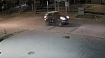 A suspect vehicle is seen in surveillance camera footage released in part with a sexual assault investigation. (Toronto police handout)